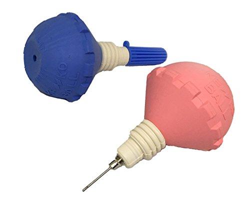 ナガセケンコー ソフトテニスポンプ 空気入れ1個 ピンクかブルー バルブ式 色は選べません (TSP-V)