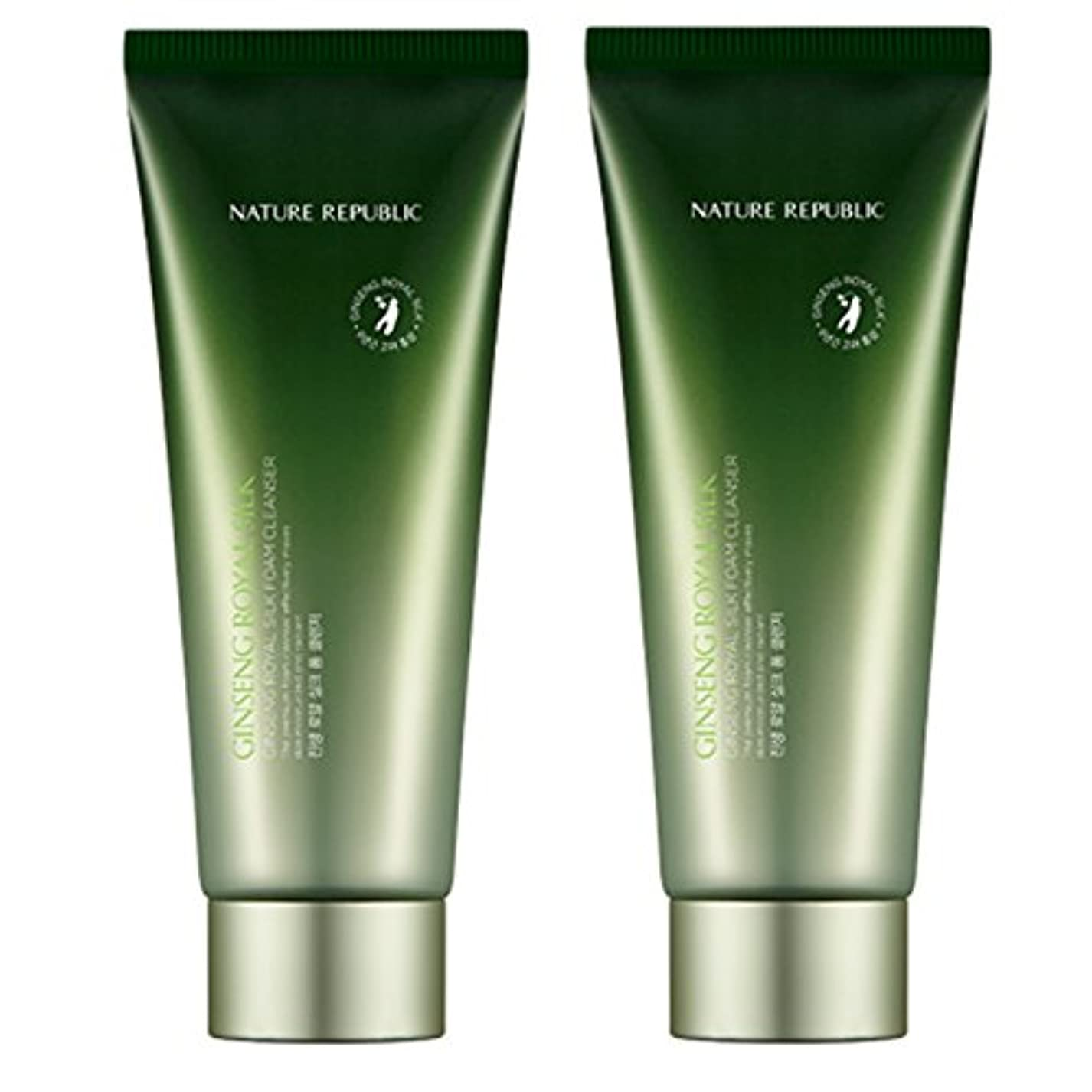 引く不安定賠償[韓国 Nature Republic] Nature Republic GINSENG ROYAL SILK Foam洗顔料 150 ml1+1クレンジング (Nature Republic GINSENG ROYAL...