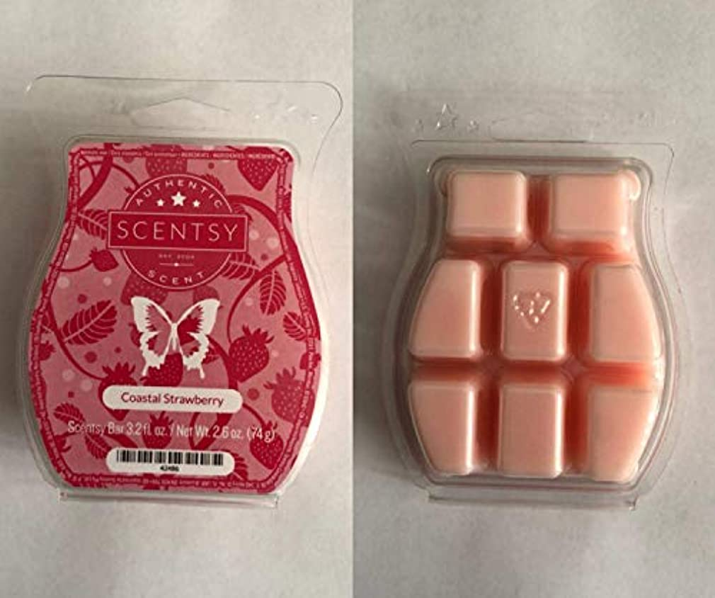 不潔俳句アイロニーCoastal Strawberry Scentsy Wickless Candle Tart Wax 90ml, 8 Squares