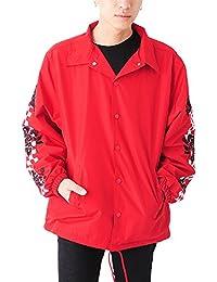 (ベストマート)BestMart モード ストリート系 袖 刺繍プリント コーチジャケット メンズ 623626
