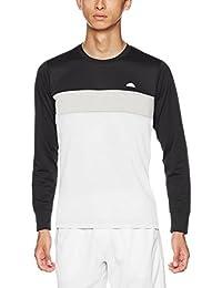[エレッセ]テニスウェア 長袖 メランジクルーシャツ EM08308 [メンズ] メンズ