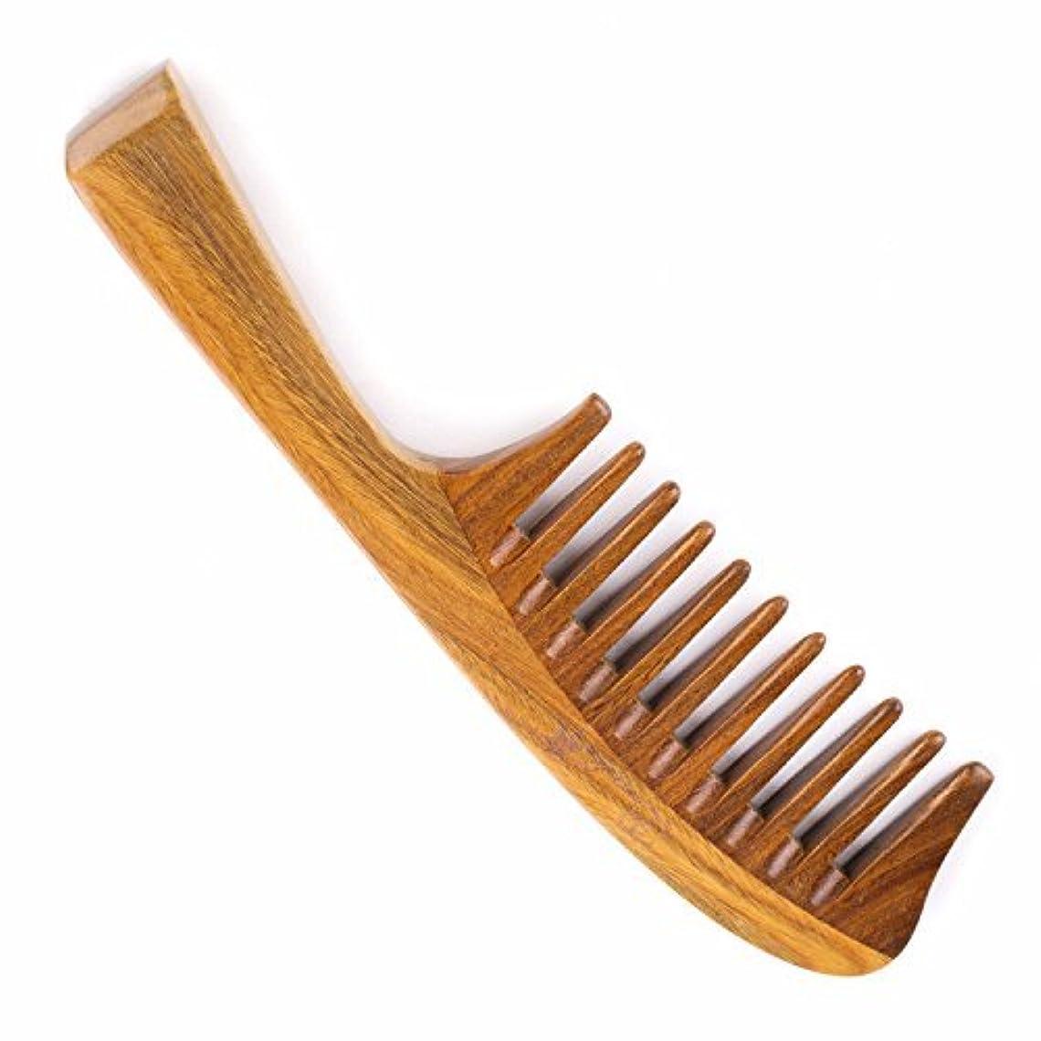 コントロールファランクスを通してHair Comb for Curly Hair - Breezelike Wide Tooth Sandalwood Comb - 8