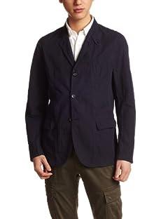 Beste Cotton Linen Work Jacket 3225-186-1603: Navy