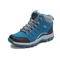 女性のハイキングシューズ、大型ハイトップカップルハイキングシューズアウトドアシューズ靴を履く耐摩耗ハイキングトレッキングランニングシューズ男性と女性のスポーツの靴 (色 : A, サイズ : 35)