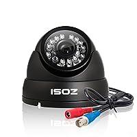 防犯カメラ監視カメラ 960H 水平解像度1000TVL 赤外線LED24個 IRカット 夜間撮影機能 広角レンズ搭載 防水金属カバー 屋内外設置可 増設用単品