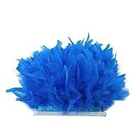 8色選べ  ふわふわ フェザー 羽根 衣類、家庭、バッグ、帽子などの装飾 手芸 縫製 アクセサリー    - レイクブルー