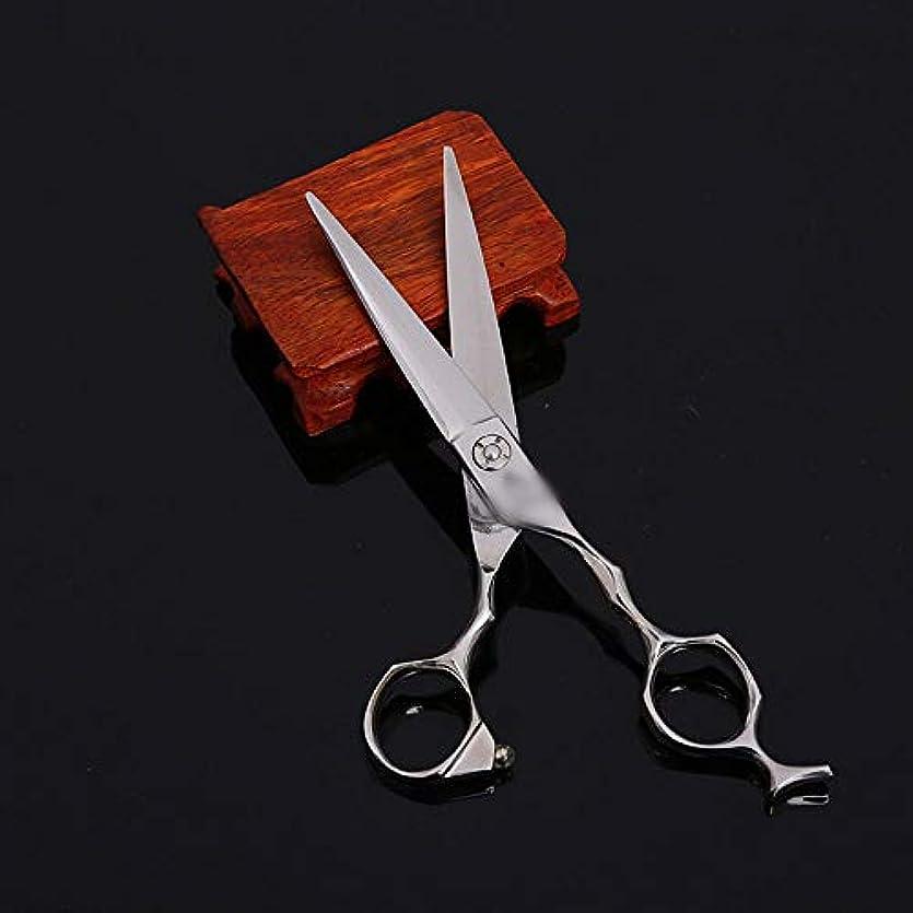 部分的に港ワーカー6インチフラットシアー理容師特別ハイエンドプロフェッショナル理髪ツール ヘアケア (色 : Silver)