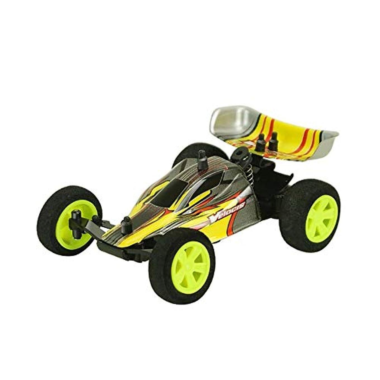 男同等のどんよりしたミニリモコンレーシングカーワイヤレスRCドリフトカーオフロード車モデル-イエロー