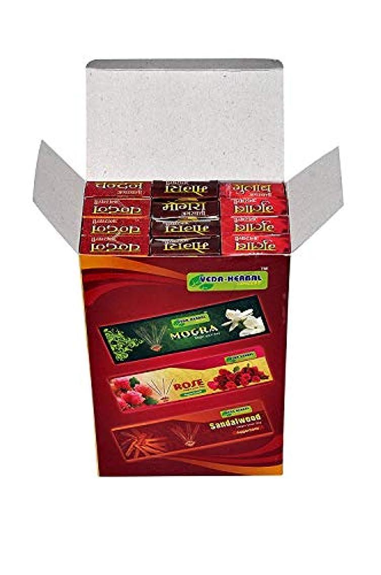 落ち着いたオーロッククラッシュVeda Herbal Concept -Incense Sticks for Puja Pack of 12x15 Sticks
