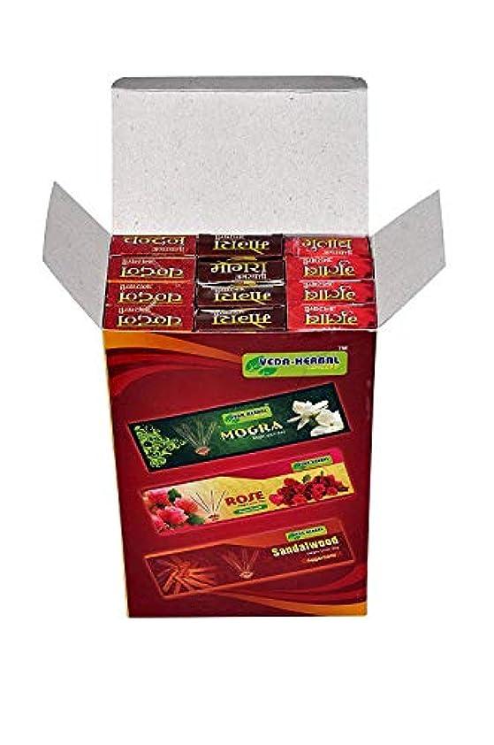色合い分泌する前提条件Veda Herbal Concept -Incense Sticks for Puja Pack of 12x15 Sticks