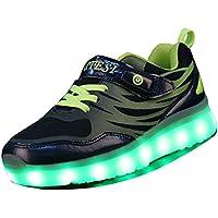Gaorui Boys' Fashion Led Light Up Shoes USB Charge Sports Flashing Sneakers