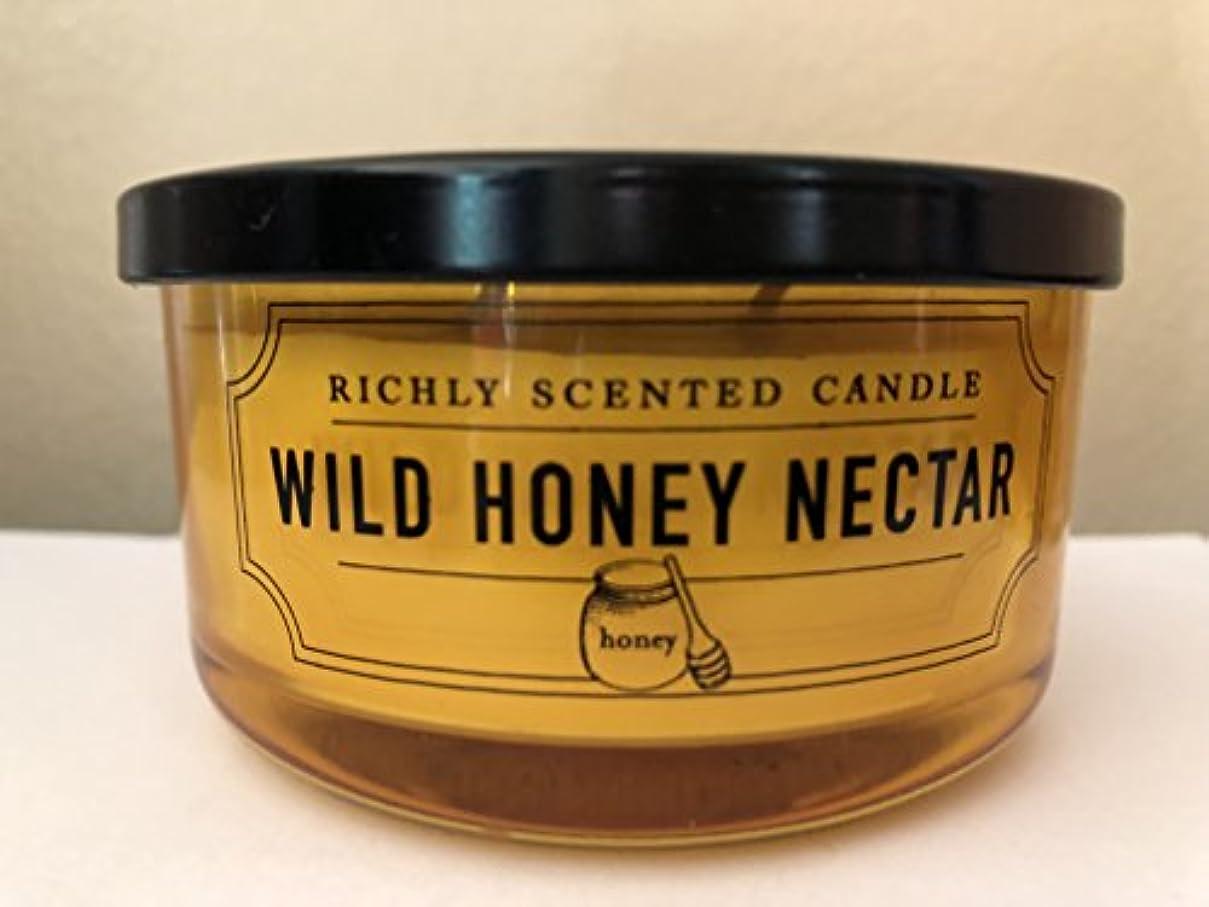 ブル貸し手飛躍DWホームWild Honey Nectar豊かな香りSmall 2 Wick Candle 4.65oz