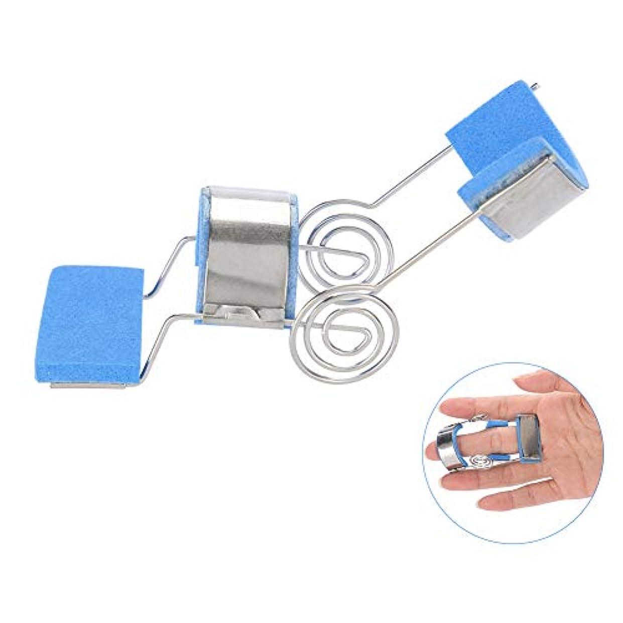 起こるメタンマインドフル指サポート リハビリテーション トレーニングデバイスフィンガースプリント フィンガー 指関節炎缓和(M)