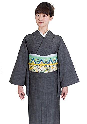 お仕立て上がり 日本製 デニム着物【GIZA ブラック】単衣 洗える Lサイズ