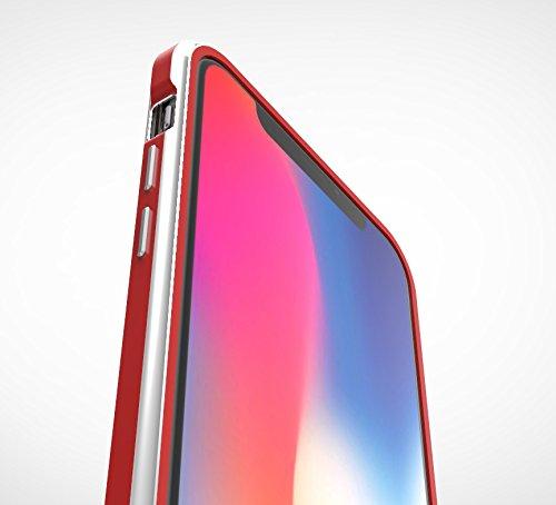 iPhoneX アルミ製メタルバンパー最新型【SWORD】ネジ不要 装着簡単 ストラップホール付「SWORD-R」【純正・真正品】 (iphoneX, ジェットブラック)