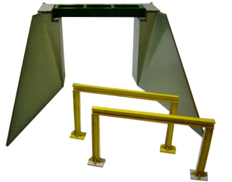 フローベルデ Nゲージ 00312 小型ガーター橋 (ペーパーストラクチャー未塗装キット)