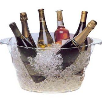 ウェイブ ワインクーラー シャンパンクーラー クリア パーティー 大型