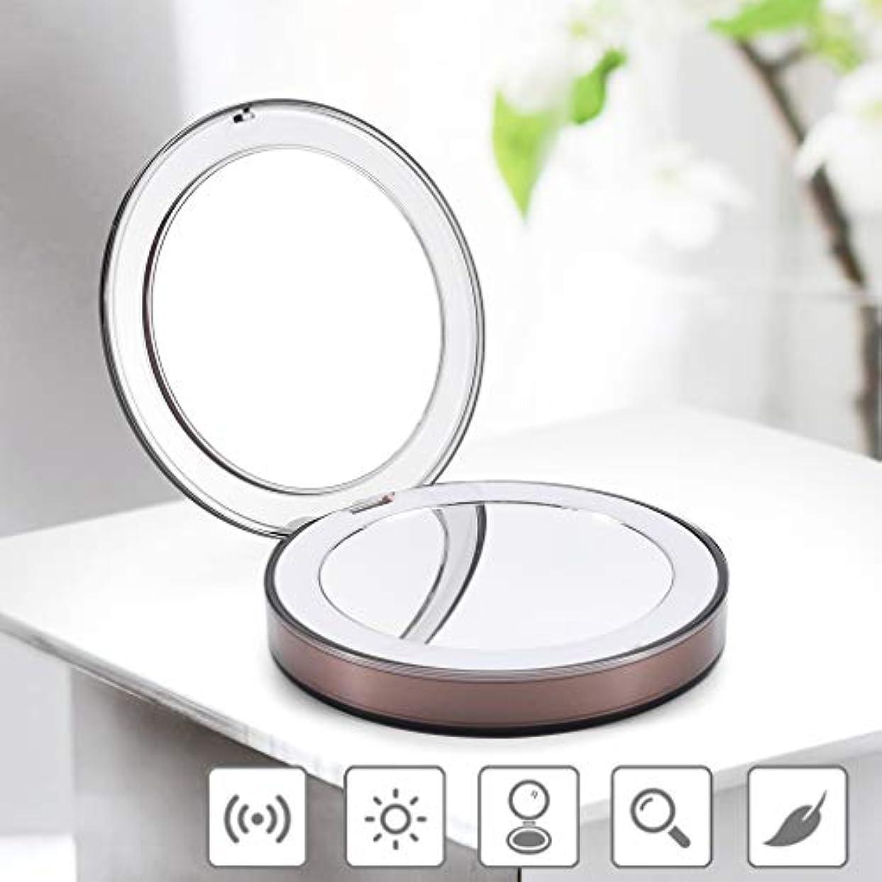 いたずらな姪受け取る旅行镜 化粧鏡 ポケットミラー 二面鏡 3倍拡大鏡 ダブルミラー ポータブルミラー メイクアップミラー パーフェクトポケットミラー