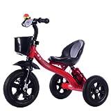 QvQ 三輪車 デラックス 2〜5歳子供 赤ちゃんの三輪車 高品質 (レッド)