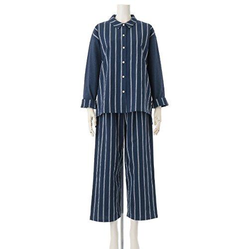 (キッドブルー)KID BLUE 長袖パジャマ[17ストライプ&天竺] R(レギュラー) ネービー