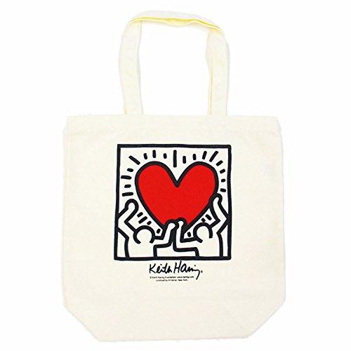 Keith Haring Tote Bag キース・ヘリング トートバッグ (WHITE)