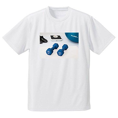 ダンベル 体重計 運動器具 フォトプリントTシャツ