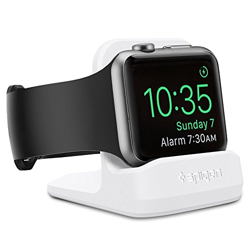 【Spigen】 Apple Watch スタンド, Apple Watch Series 4 / Apple Watch Series 3 / Apple Watch Series 2 / Apple Watch Series 1 [ 充電 クレードル ドック ] アップルウォッチ シリーズ 4 44mm/40mm / シリーズ 3 / シリーズ 2 / シリーズ 1 38mm/42mm 対応 (ホワイト)