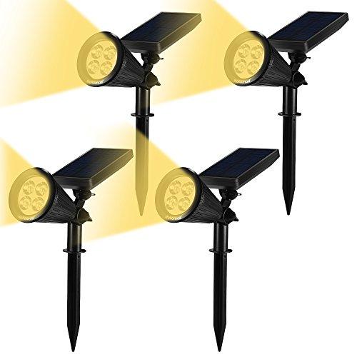 ガーデンライト ソーラーライト 2点灯モード 180°角度調...
