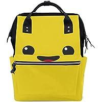 ママバッグ マザーズバッグ リュックサック ハンドバッグ 旅行用 顔文字柄 笑顔 ファション