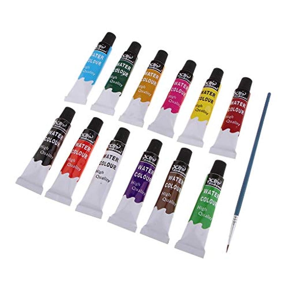 するだろう消費水彩画セット オイルペイントセット 油絵具 水彩絵 子供絵画 12本セット 全3選択 - 水彩画セット