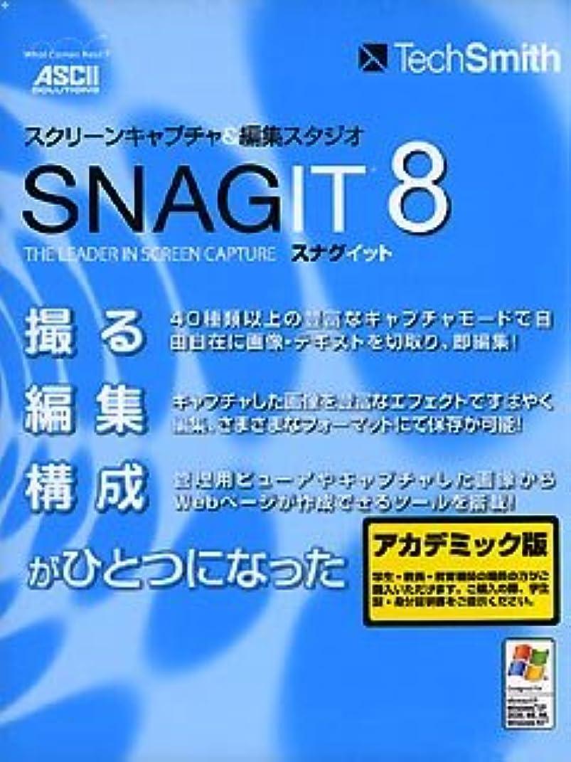 り負驚くべきSNAGIT 8 日本語版 アカデミック