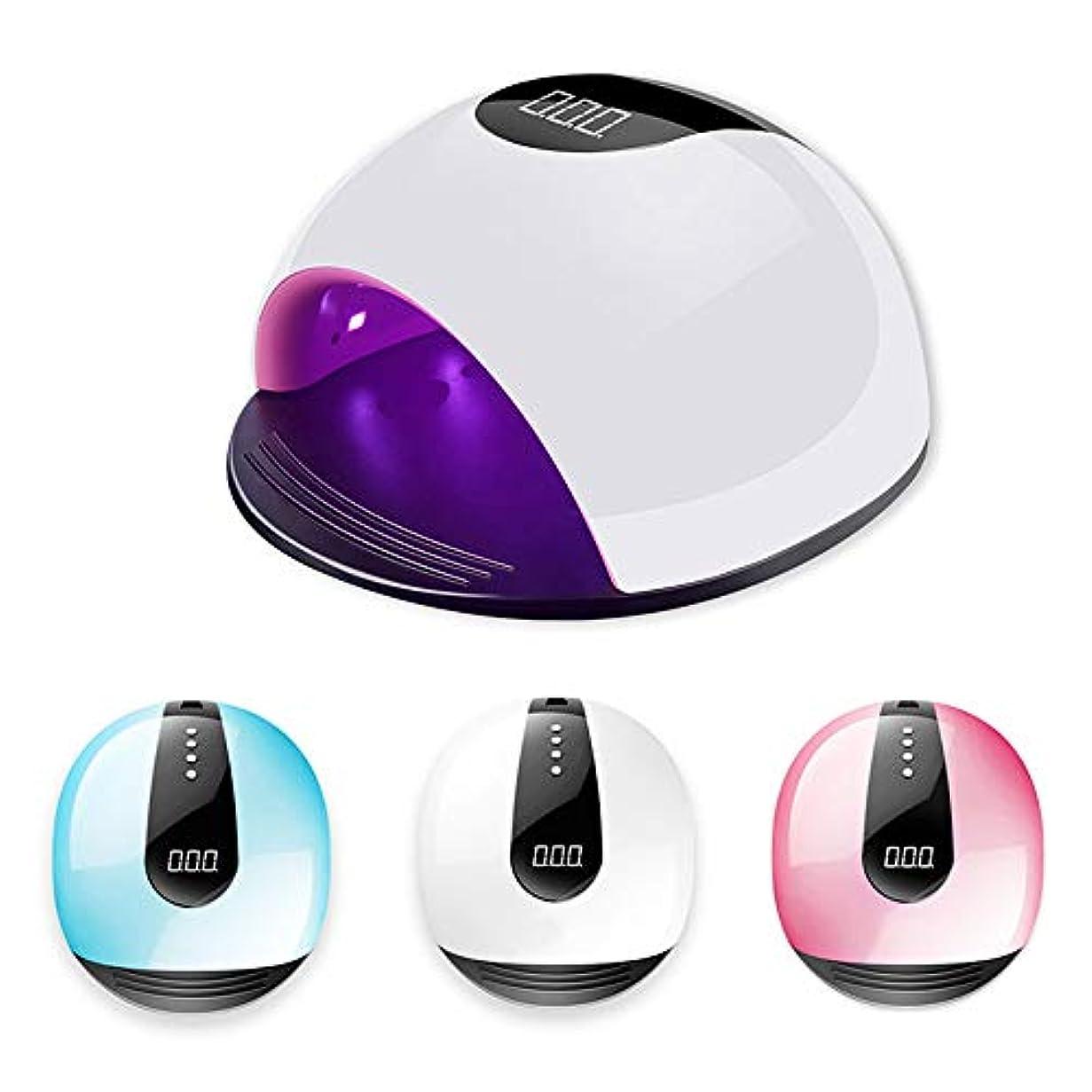 素朴なスポットチャネルLED UVネイルライト、スタイリッシュな美容照明付きネイルドライヤー、硬化ジェルネイルポリッシュとネイルポリッシュ用センサー/タイマー設定、ネイル研磨機器,白