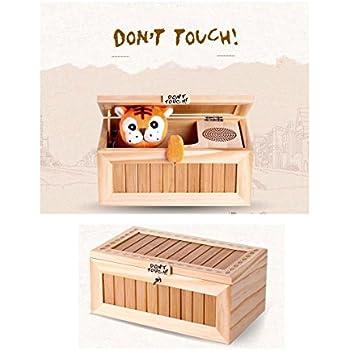 Dulcii Useless box 役に立たないボックス つまらないボックス 装飾的で耐久性のある無限の楽しみ 触らないでください タイガー ドンタッチとら夫のうれし恥ずかしプライバシー 可愛いトラとの終わらないイタチごっこ