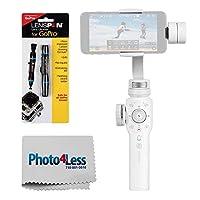 Zhiyun Smooth 3軸ハンドヘルドジンバルスタビライザー4Professional forスマートフォン(ホワイト) + Lenspen Mini Proコンパクトレンズペンクリーニングシステム+ photo4lessクリーニングクロス