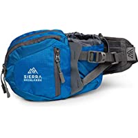 Sierra Highlands Marlette Hiking Fanny Pack Waist Bag with Water Bottle Holder/Carry Your Cell Phone, Sunscreen, Keys, Wallet, and More!