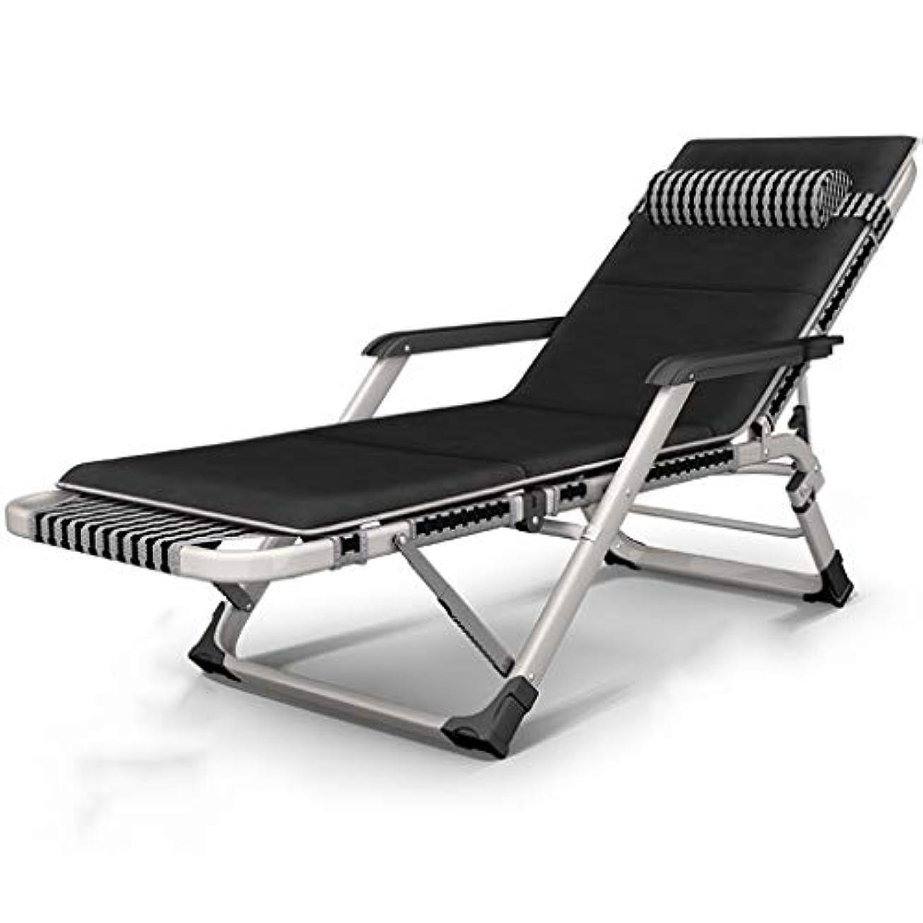 耐える作者ポールアウトドアチェア 重い人々の子供のための黒いゼロ重力の椅子、クッションおよび枕が付いている屋外のテラスの特大キャンプの椅子、負荷200kg