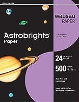"Astrobrights色ペーパー、8.5"" X 11インチ、24lb / 89gsm、Planetaryパープル、500シート"