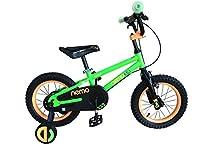 ROCKBROS(ロックブロス) 子供用 自転車 かわいい 16インチ男の子にも女の子にも! 安心のキャリパーブレーキ、バンドブレーキ仕様 補助輪付き 児童用 お子様のこだわりにもぴったりフィットするカラー4色サイズ4種 合計16バリエーション16インチグリーン NEMO16-B グリーン 16インチ
