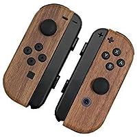 Nintendo Switch ジョイコン 用 スキンシール カバー シール ケース 木目調 高級素材 側面対応 丈夫で長持ち 保護 ナチュラルウッド 高級感のある手触り 簡単に貼り付け可能 ニンテンドースイッチ (ナチュラルウッド)