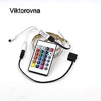 RGBLEDストリップライト フルキット LEDライト PCケース SATA電源インターフェース リモートコントロール PCケース 粘着テープ - (発光色: グリーン リモコンなし 色: 非防水 ワット数: 50cm)