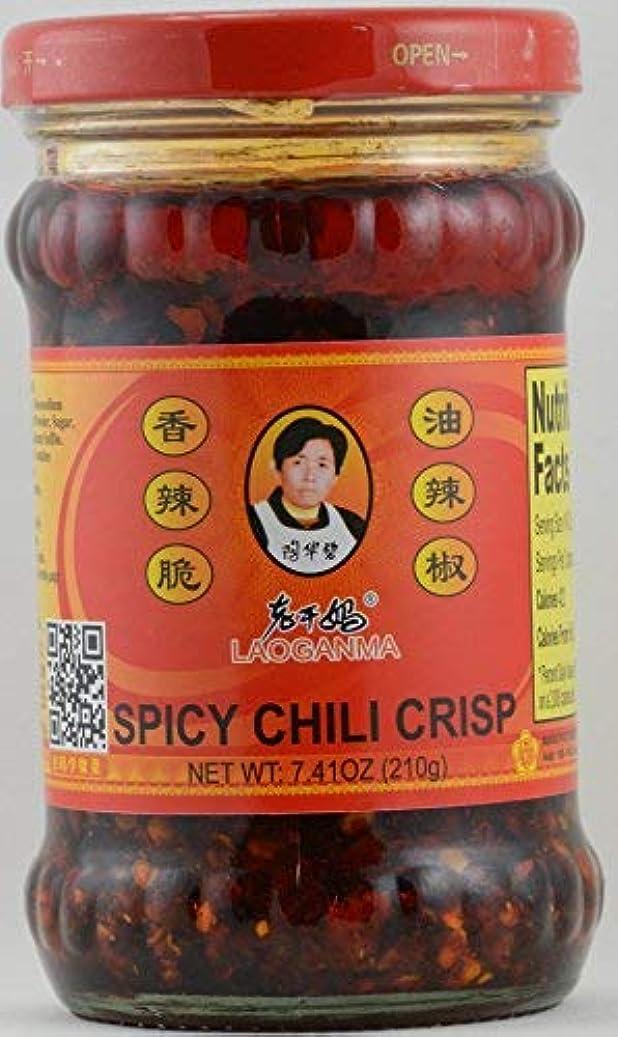 銀行繁雑子孫老干?香辣脆油辣椒 Lao Gan Ma Spicy Chili Crisp 7.41 oz [並行輸入品]