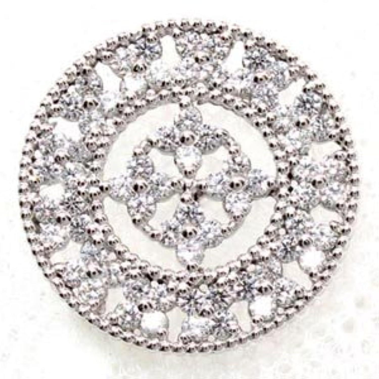 [エテリーユ] ダイヤモンド サークル アンティーク ミル シルバー925 sv925 0.6 ラペルピン タイピン メンズ