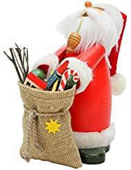 Alexander Taron 35-410 Christian Ulbricht Incense Burner - Sleepy Santa Claus Carrying a Large Sack Filled with...