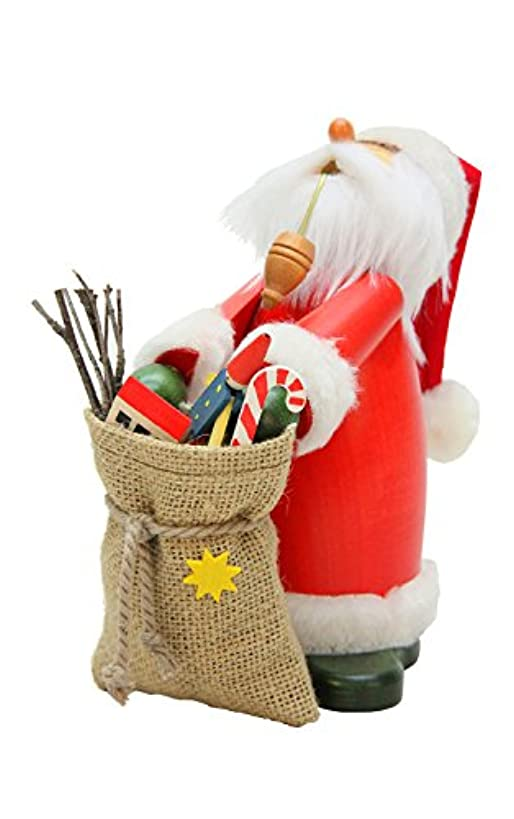 小道具先駆者フォアマンAlexander Taron 35-410 Christian Ulbricht Incense Burner - Sleepy Santa Claus Carrying a Large Sack Filled with Toys
