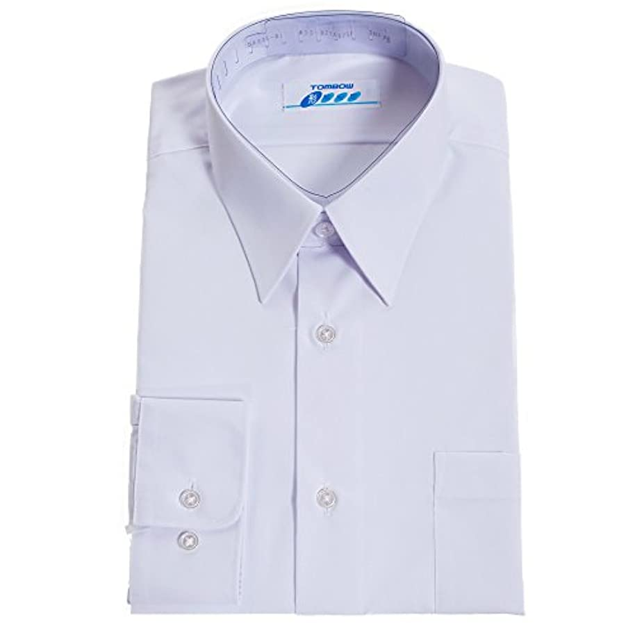 結果として繰り返した評決トンボ(TOMBOW) スクールシャツ 男子 長袖 白 形態安定 抗菌防臭 A体 5A835-01【A35(155)】