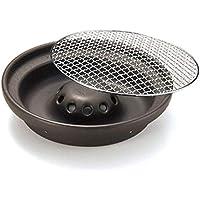 萬古焼 耐熱陶板プレート 煙の出にくい遠赤焼肉鍋