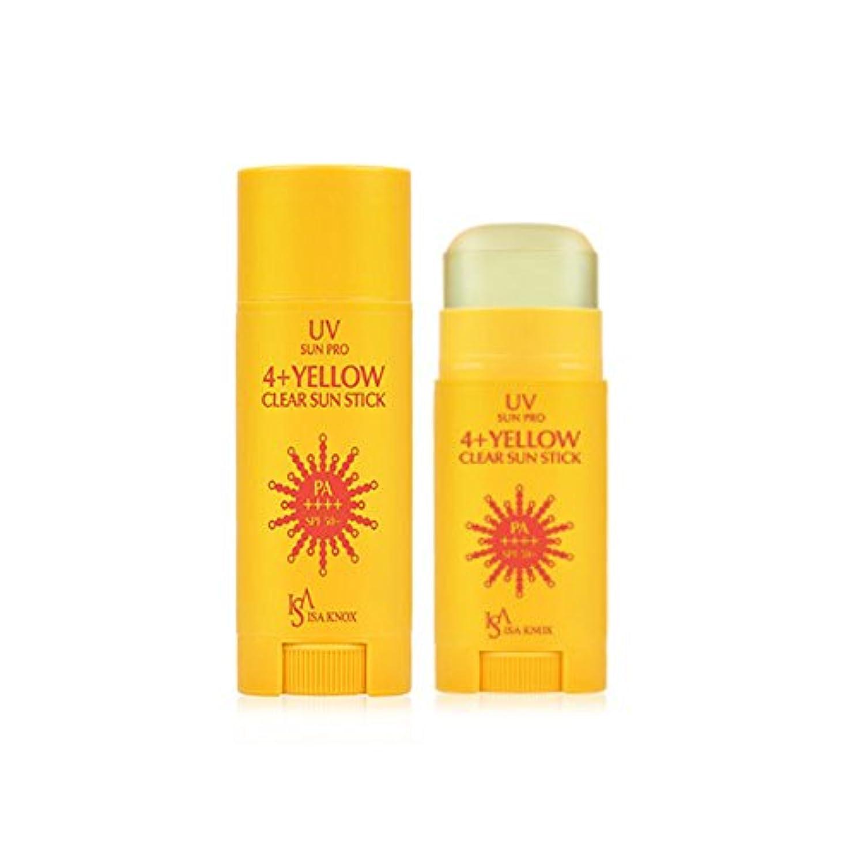 明るい毎月週末イザノックス(ISA KNOX) UVサンプロ4+クリア日焼け止めスティック/イエロー(SPF50+/PA++++)