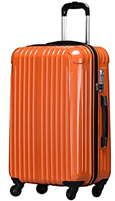 ラッキーパンダ スーツケース TY001 TSAロック ファスナータイプ 2年間修理保証 オレンジ Sサイズ