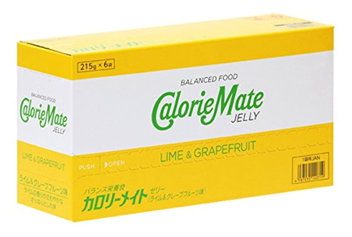 プロトタイプ新年抑制する大塚製薬 カロリーメイト ゼリー ライム&グレープフルーツ味 215g×6袋