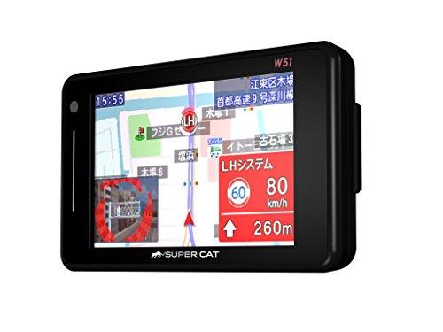 ユピテル フルマップレーダー探知機 W51 3年保証 GPSデータ14万件以上 小型オービスレーダー波受信 OBD2接続 GPS/一体型/フルマップ表示/静電式タッチパネル